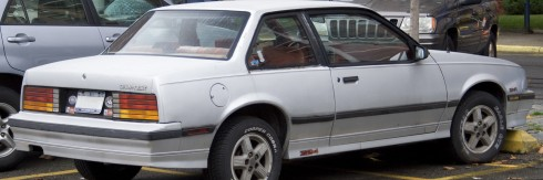 1986_Chevrolet_Cavalier_Z24_coupé_rear